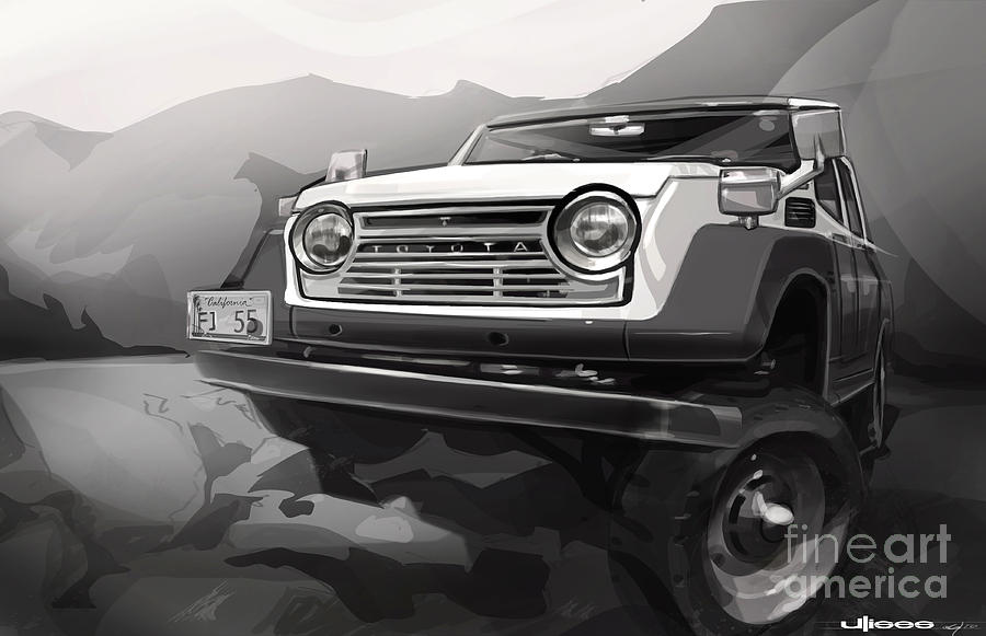 Digital Artwork Painting - Toyota Fj55 Land Cruiser by Uli Gonzalez