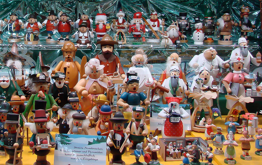 Toys And Nutcrackers For Sale Photograph  - Toys And Nutcrackers For Sale Fine Art Print