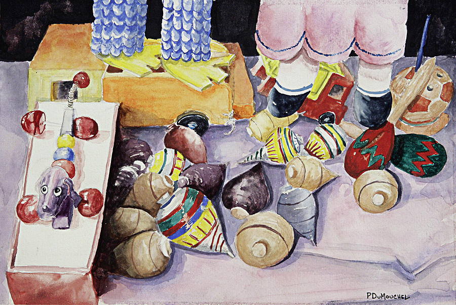 Toys Painting - Toys by Patrick DuMouchel