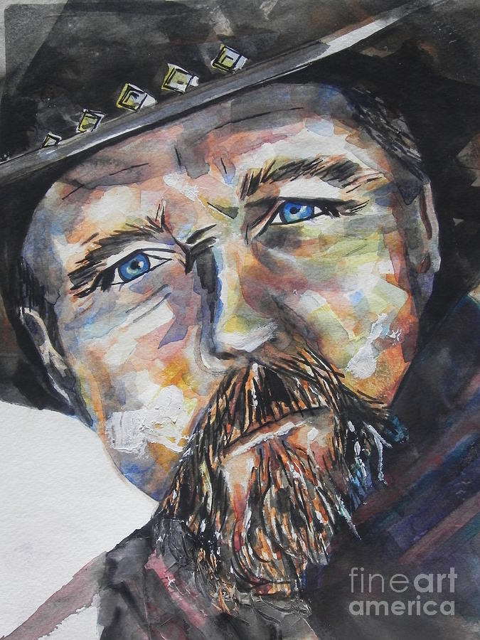 Watercolor Painting Painting - Trace Adkins..country Singer by Chrisann Ellis