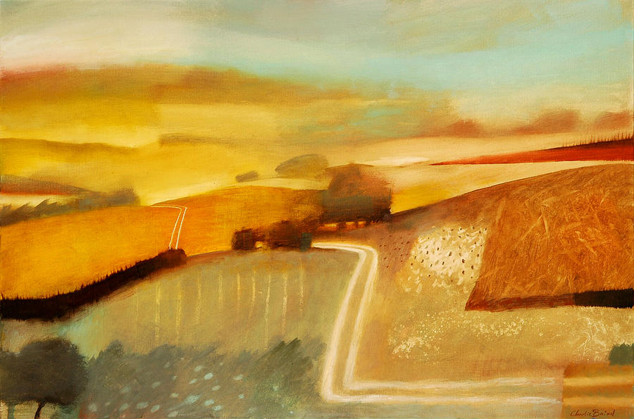 Country; Rural; Road; Lane; Field; Fields; Hedge; Hedges; Summer; Sun; Atmospheric; Environmental Painting - Track by Charlie Baird