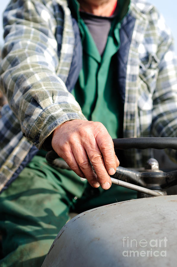 Tractor Driver. Photograph