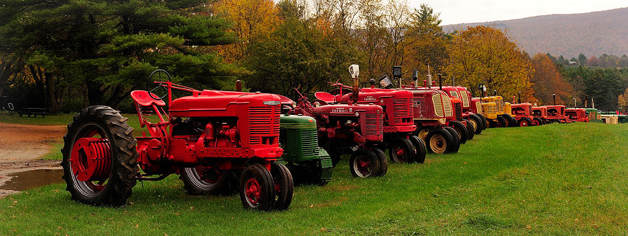 Tractor Photograph - Tractor Lineup by Don Dennis