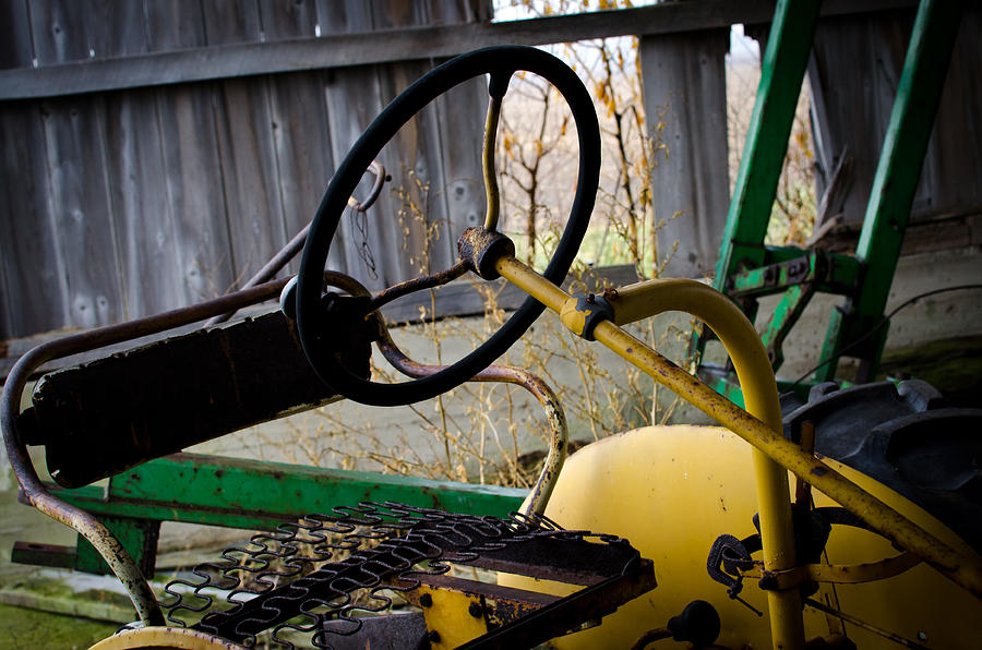 Johndeere Photograph - Tractor by Off The Beaten Path Photography - Andrew Alexander
