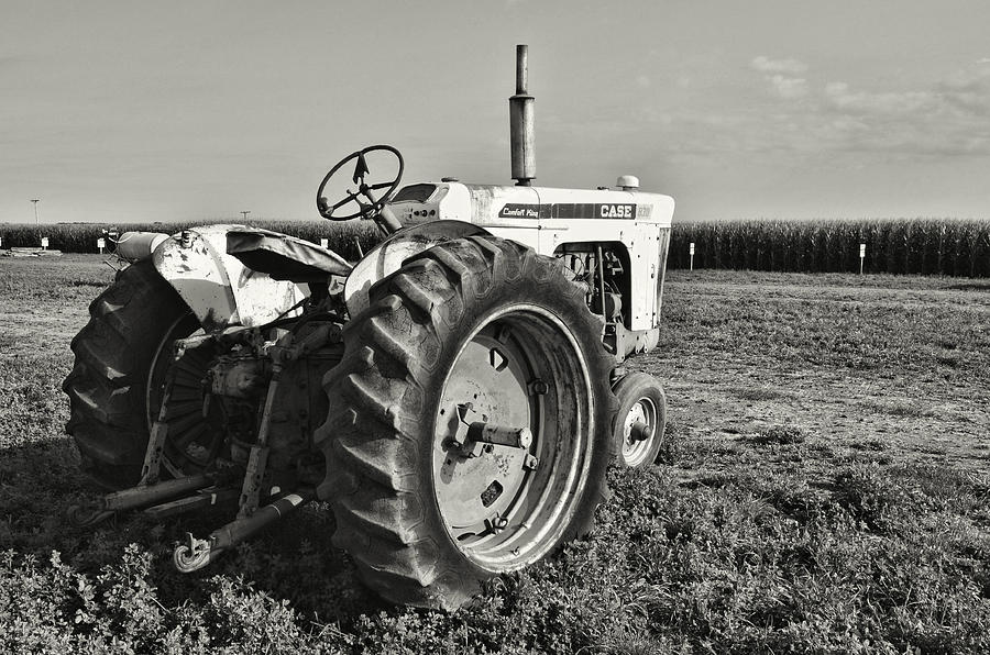 Tractor...black And White Photograph by Tom Druin