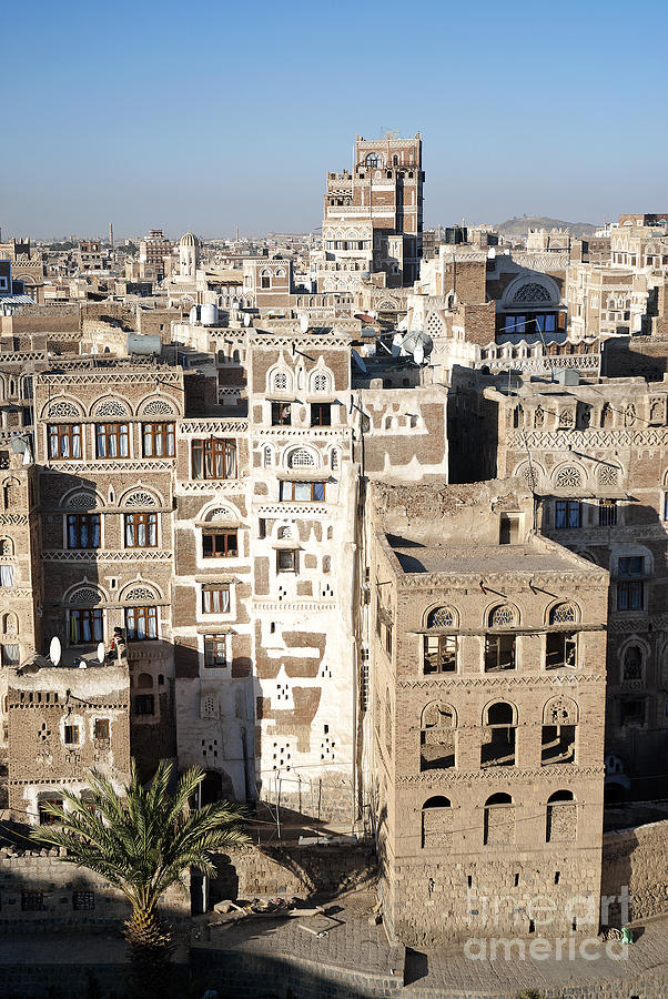 traditional architecture in sanaa yemen photograph by