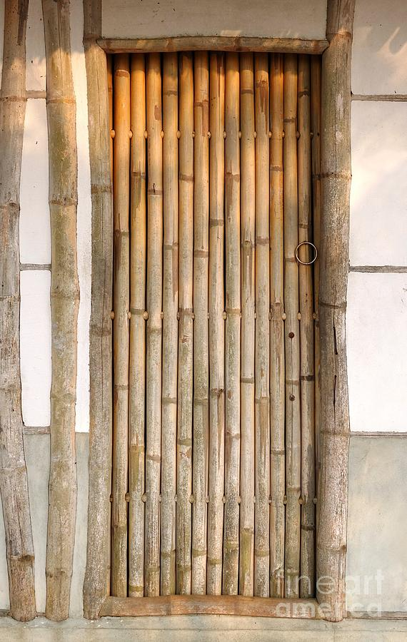 House Photograph - Traditional Chinese House With Bamboo Door by Yali Shi