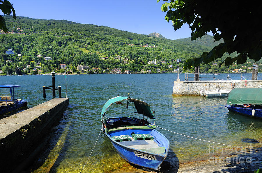 Traditional Lucia Fishing Boat On Lake Maggiore Photograph