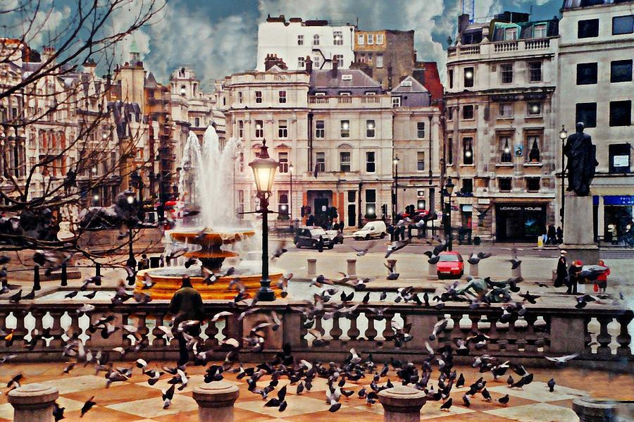 Trafalgar Square Photograph - Trafalgar Square London by Diana Angstadt
