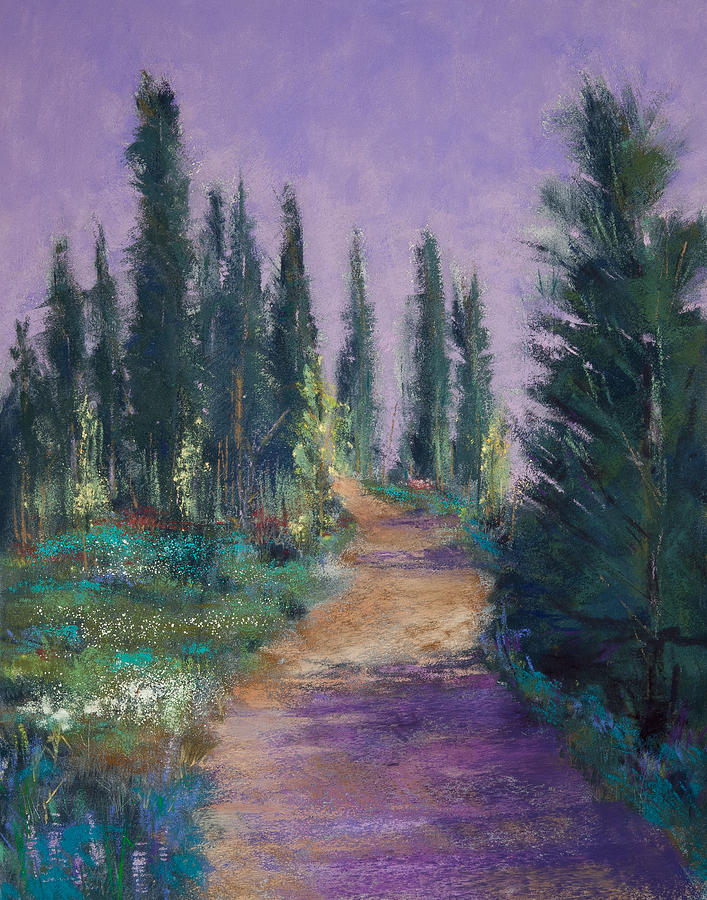 Trail In The Cascades Painting  - Trail In The Cascades Fine Art Print