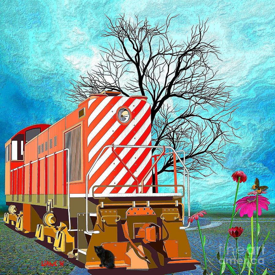 Train - All Aboard - Transportation Digital Art