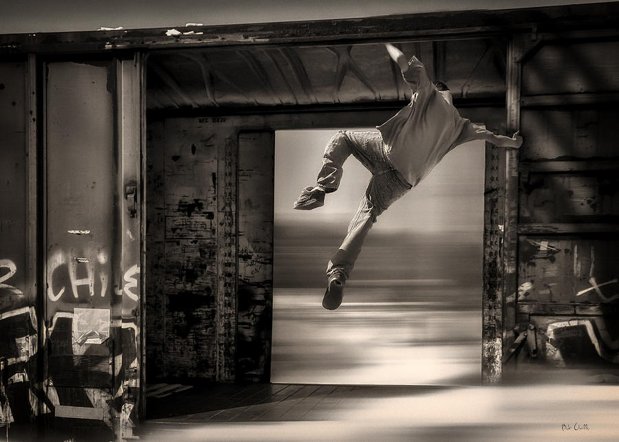 Train Jumping Photograph  - Train Jumping Fine Art Print