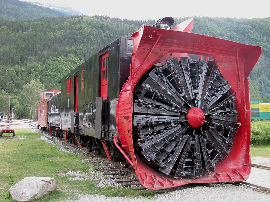Train Snowplow Photograph
