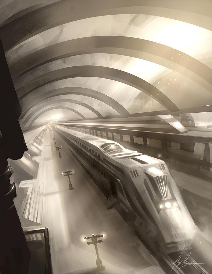 Train Station Digital Art