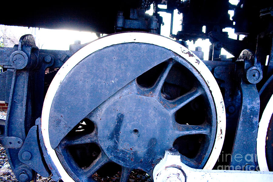 Train Wheel Photograph