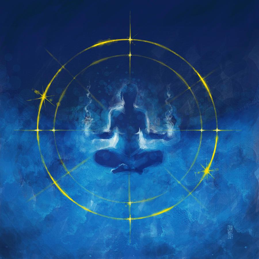 Meditation Digital Art - Trancendence I by Vincent Carrozza