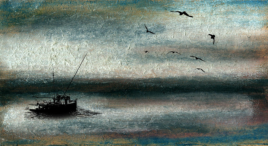 Tranquil Sea Mixed Media  - Tranquil Sea Fine Art Print