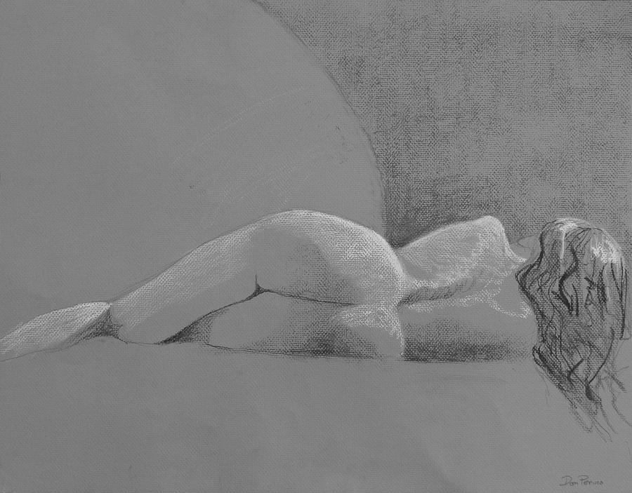Nude Drawing - Tranquility by Don Perino