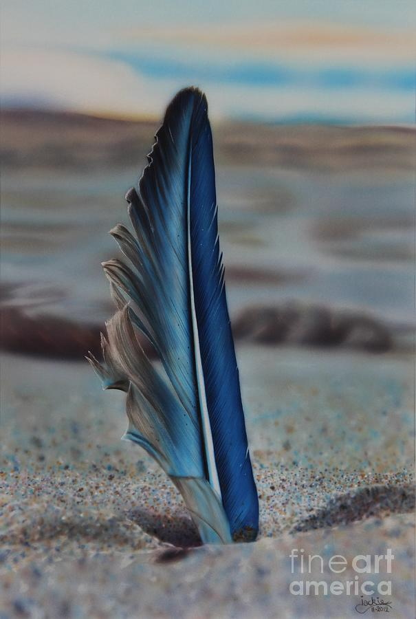 Feather Painting - Tranquility by Jackie Mestrom