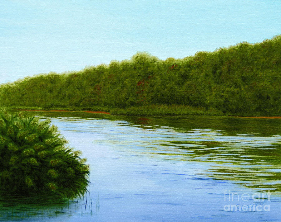 Tranquility On Taylors Creek Painting  - Tranquility On Taylors Creek Fine Art Print