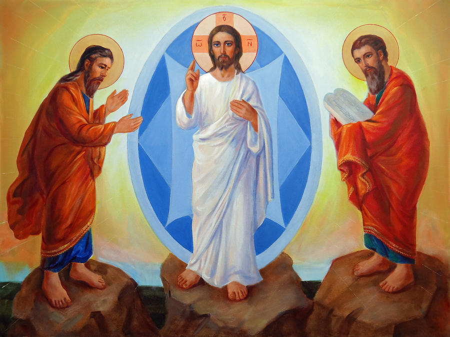 Transfiguration Of Jesus. Religious Art Gallery Painting