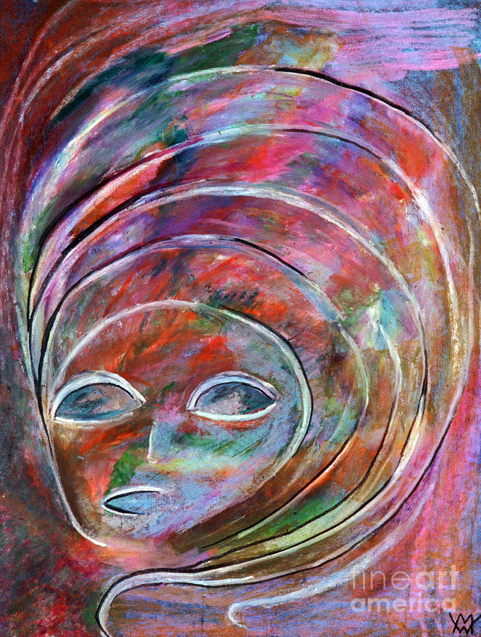 Translucent Woman Pastel  - Translucent Woman Fine Art Print