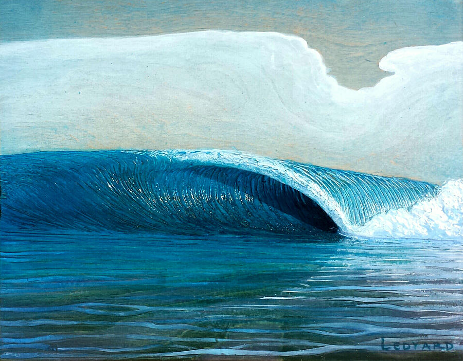 Seascape. Wave Painting - Transparent Sea by Nathan Ledyard