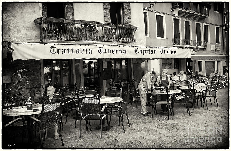 Venice Photograph - Trattoria In Venice  by Madeline Ellis