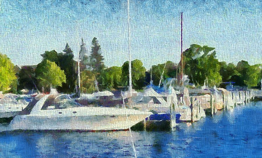 Traverse city michigan painting by dan sproul for Craft shows in traverse city mi