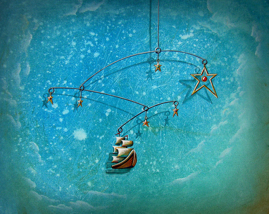 Boat Painting - Treasure Hunter by Cindy Thornton
