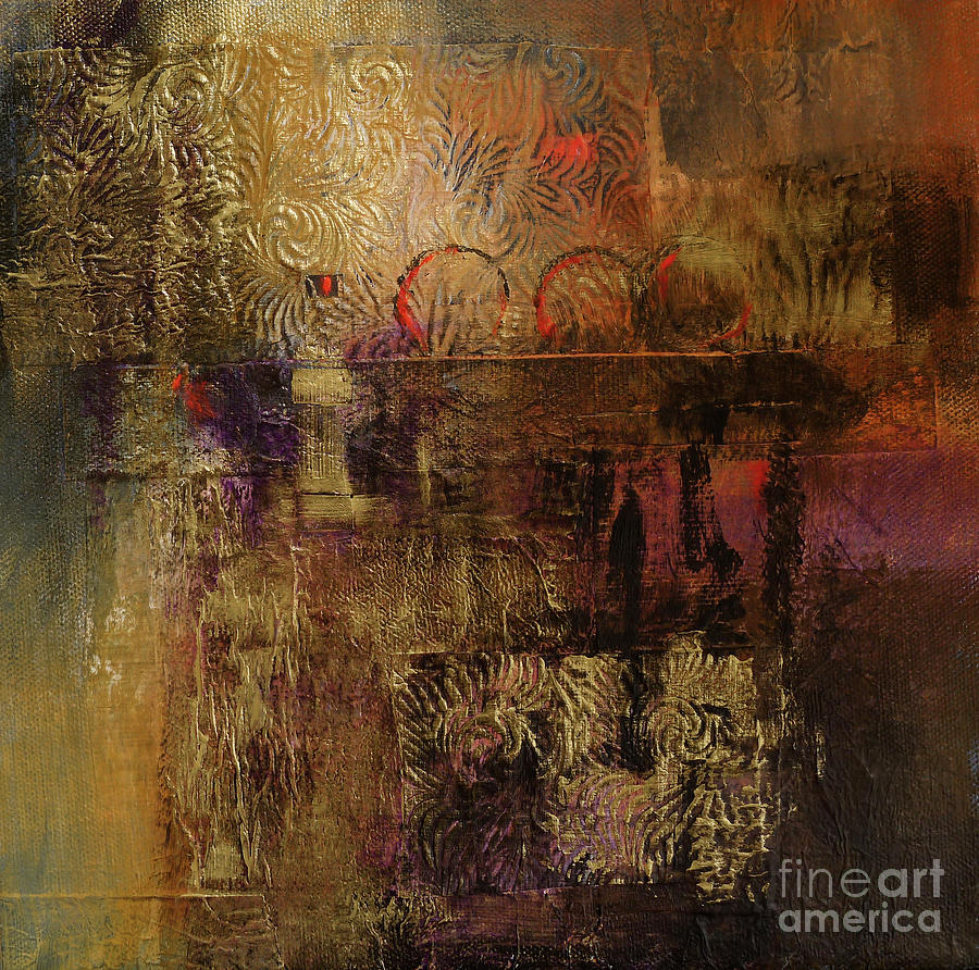 Abstract Painting - Treasure by Melody Cleary