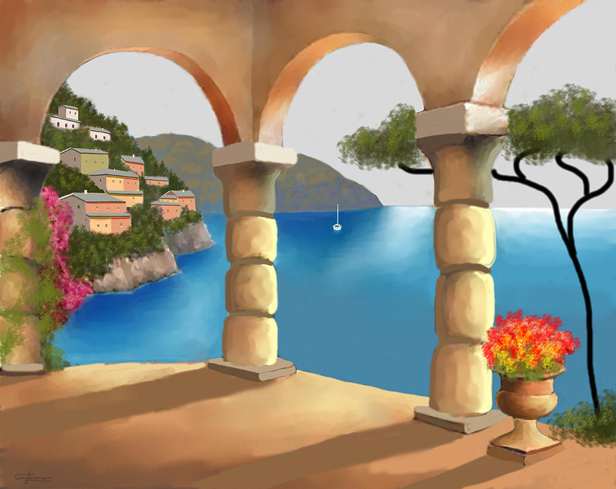 Treasures Of Amalfi Painting