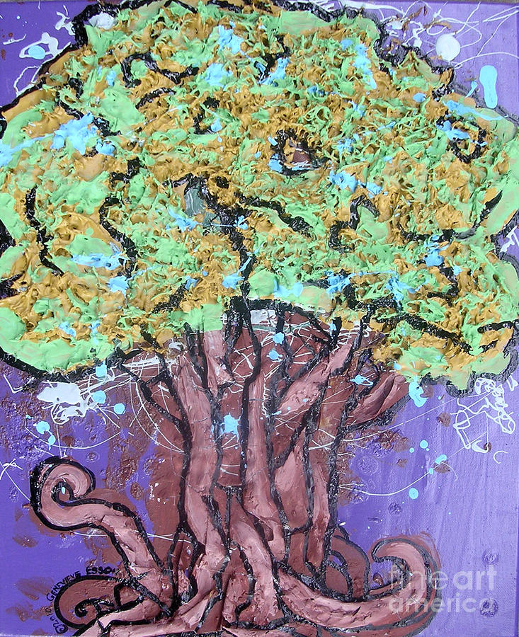 Tree Painting - Tree In Three Dee by Genevieve Esson
