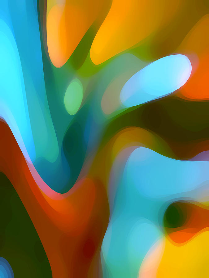 Abstract Painting - Tree Light 3 by Amy Vangsgard
