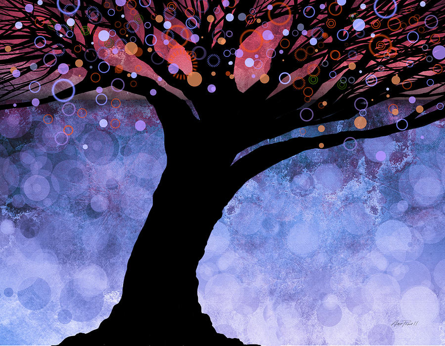 Tree Painting - Tree Of Life Three by Ann Powell