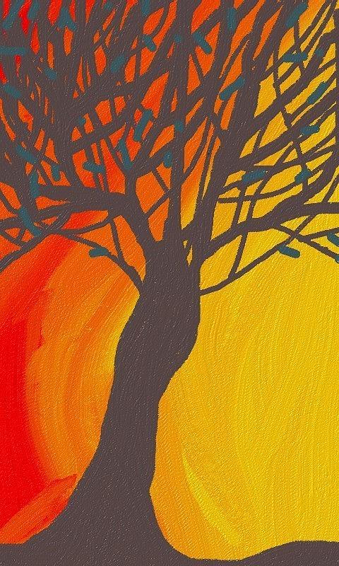 Tree On Fire Digital Art