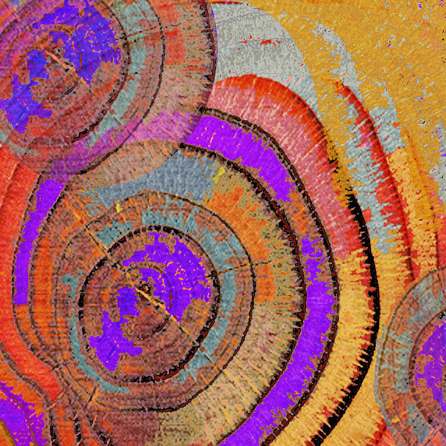 Tree Ring Abstract Painting