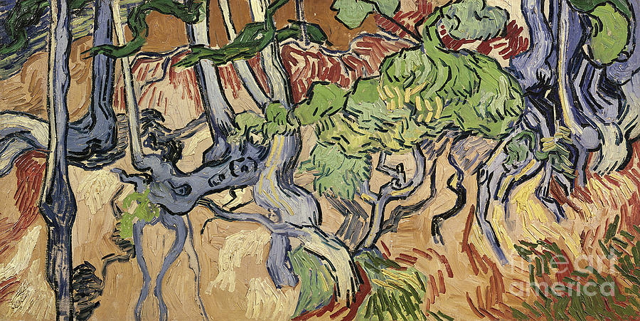 Landscape Painting - Tree Roots by Vincent Van Gogh