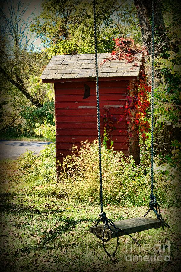 Tree Swing By The Outhouse Photograph  - Tree Swing By The Outhouse Fine Art Print