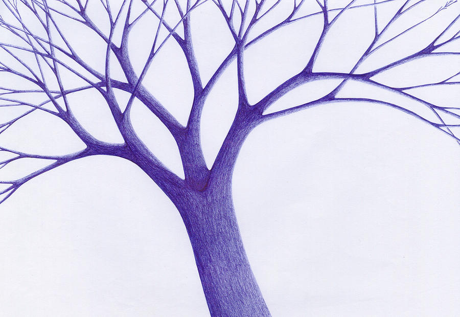 Tree - The Great Hand Of Nature Drawing  - Tree - The Great Hand Of Nature Fine Art Print
