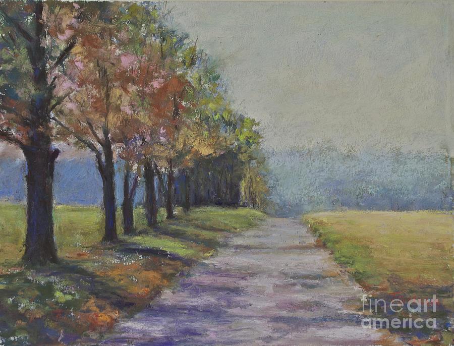 Treelined Road Pastel