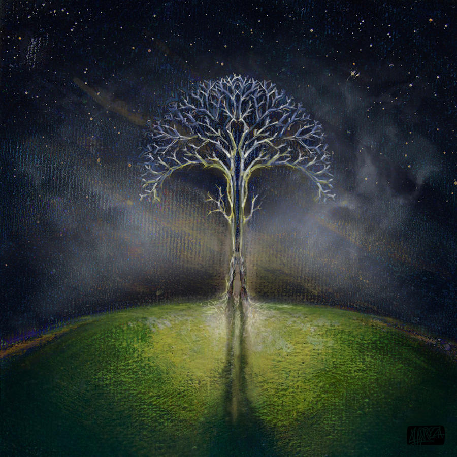 Tree Digital Art - Treelogy II by Vincent Carrozza