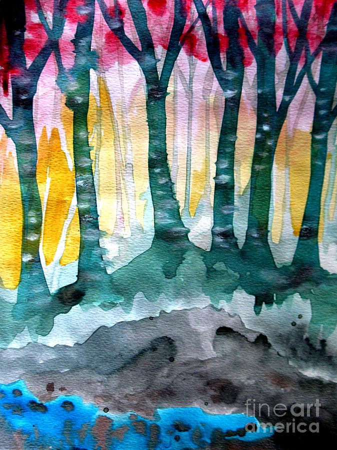 Trees Painting - Treess by Amy Sorrell