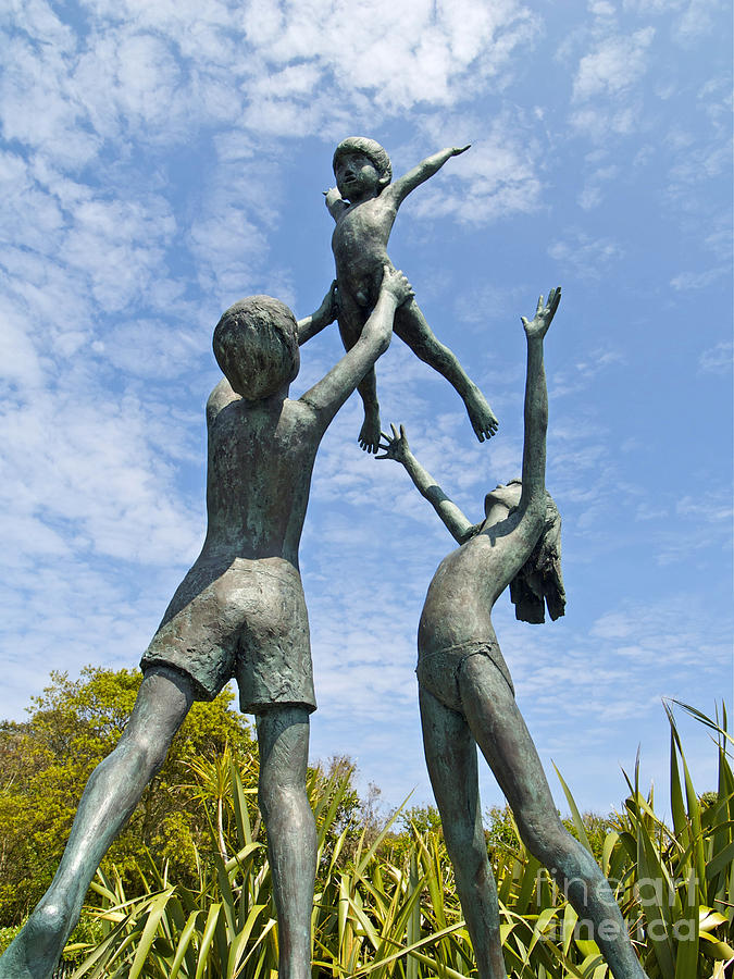 Sculpture Photograph - Tresco Children by Alex Cassels