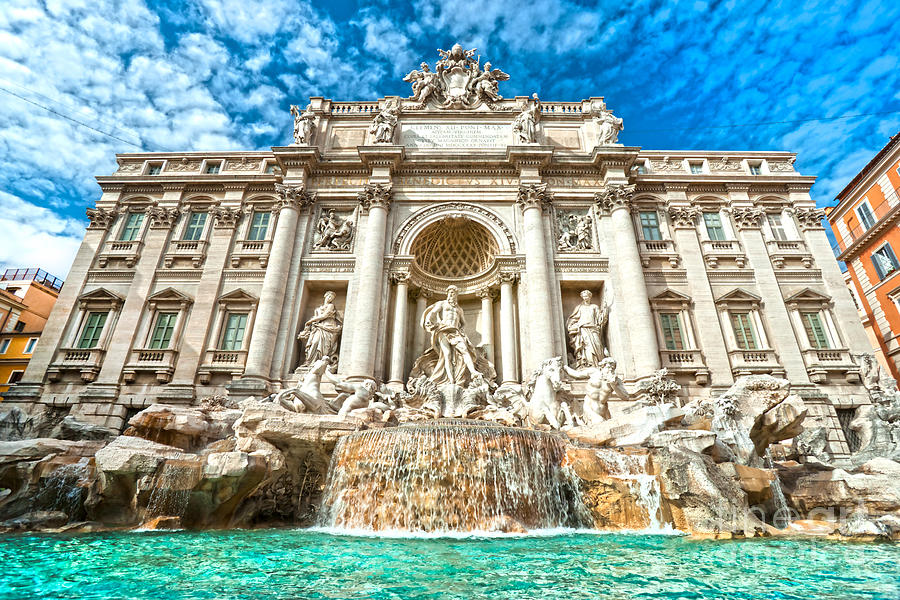 Trevi Fountain Rome Photograph By Luciano Mortula
