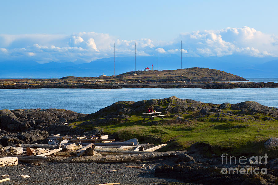 Trial Island And The Strait Of Juan De Fuca Photograph