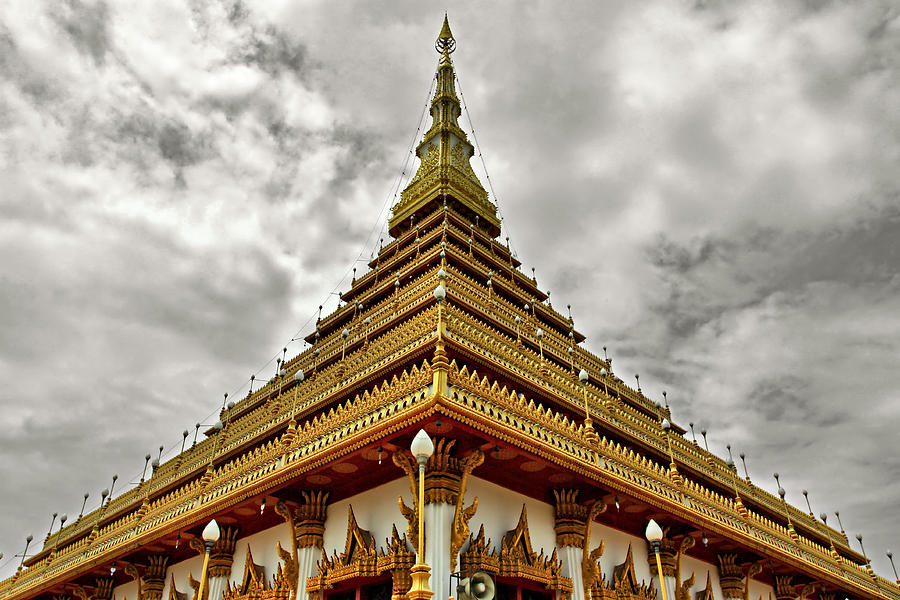 Triangle Pagoda Photograph  - Triangle Pagoda Fine Art Print