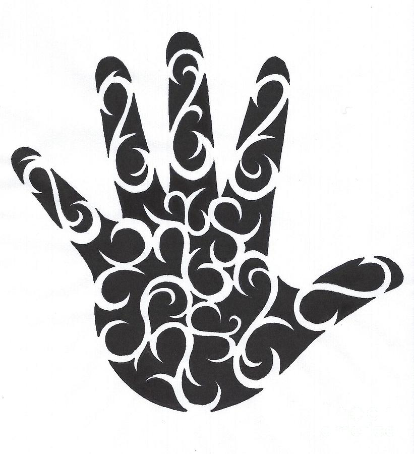 Tribal Hand Photograph  - Tribal Hand Fine Art Print