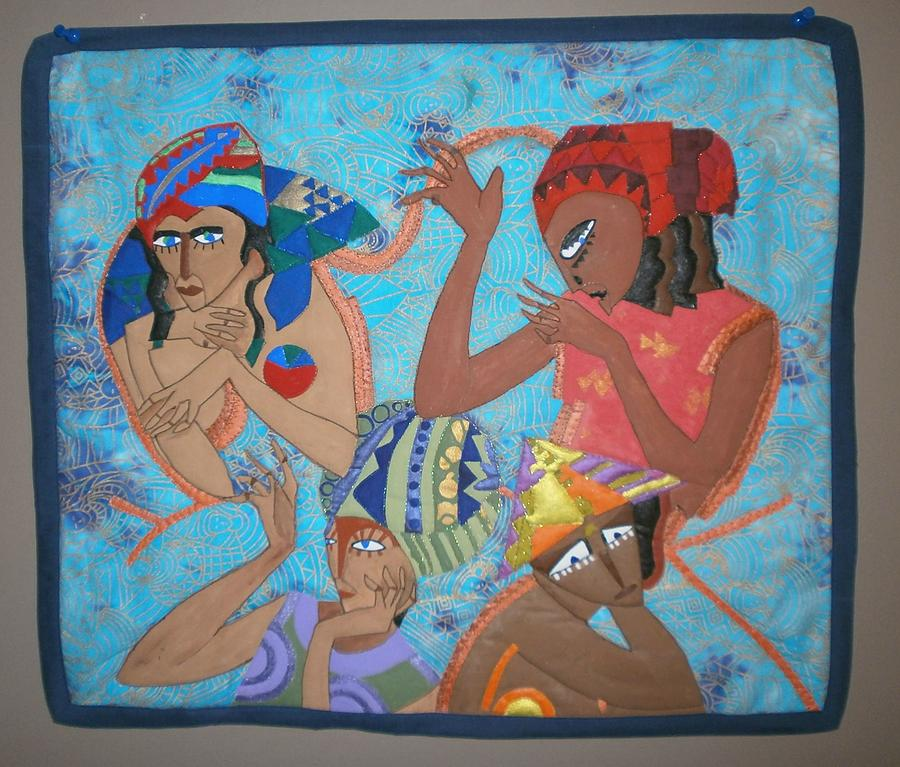 Quilts Tapestry - Textile - Tribal by Linda Egland