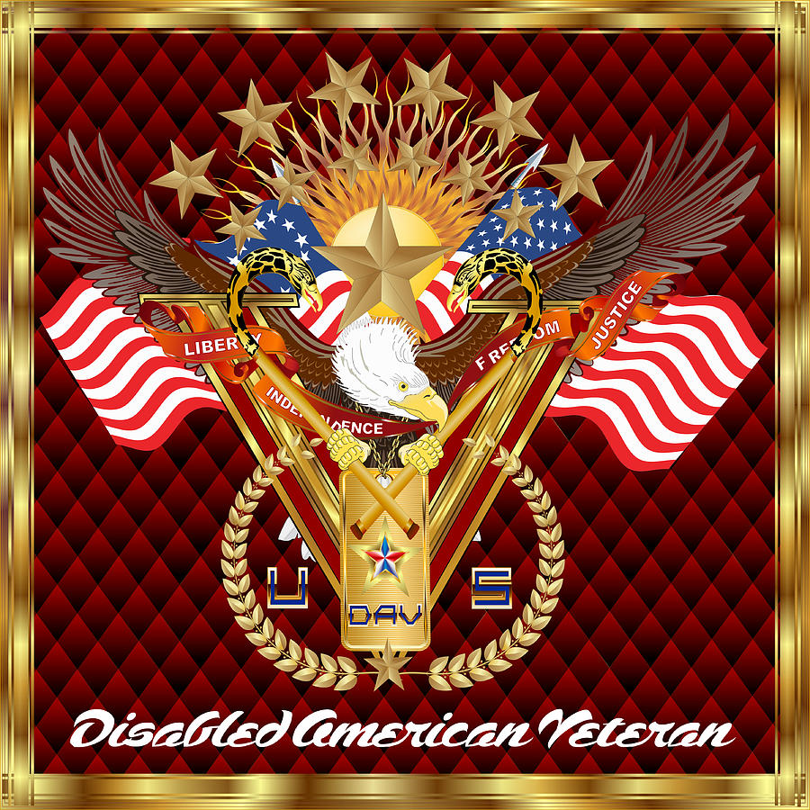 Tribute-disabled-american-veteran-v-4 Digital Art  - Tribute-disabled-american-veteran-v-4 Fine Art Print